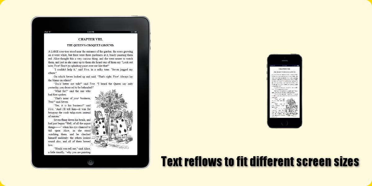 Reflowable text