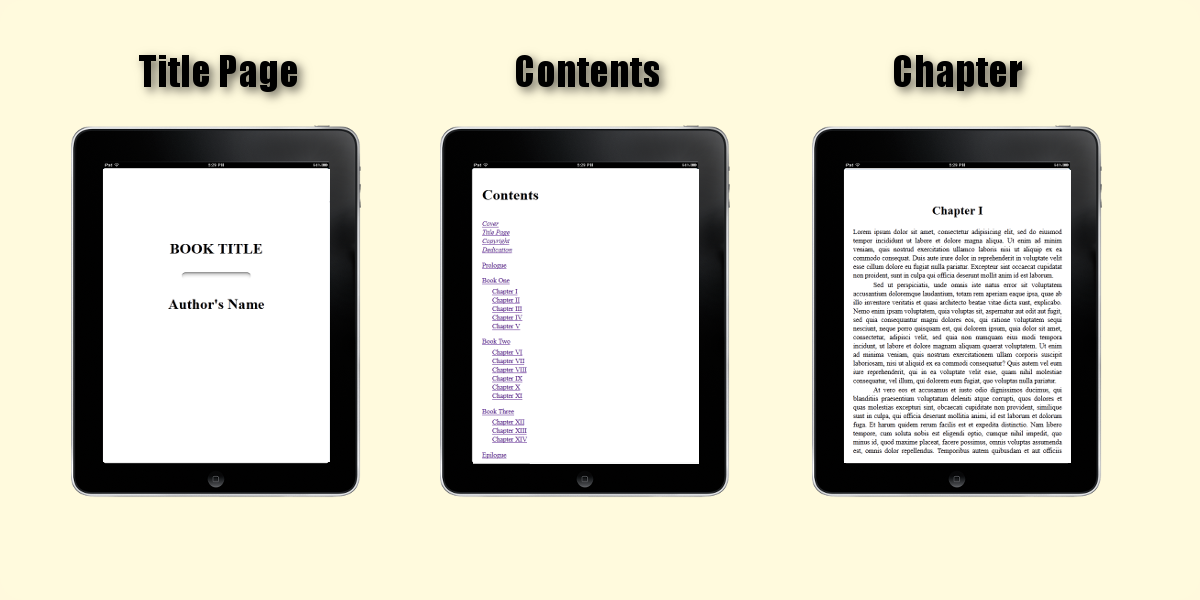 Standard ebook output