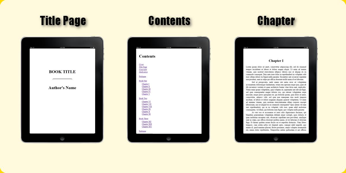 Standard ebook output