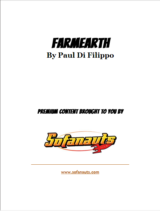 Title page for FarmEarth, by Paul Di Filippo
