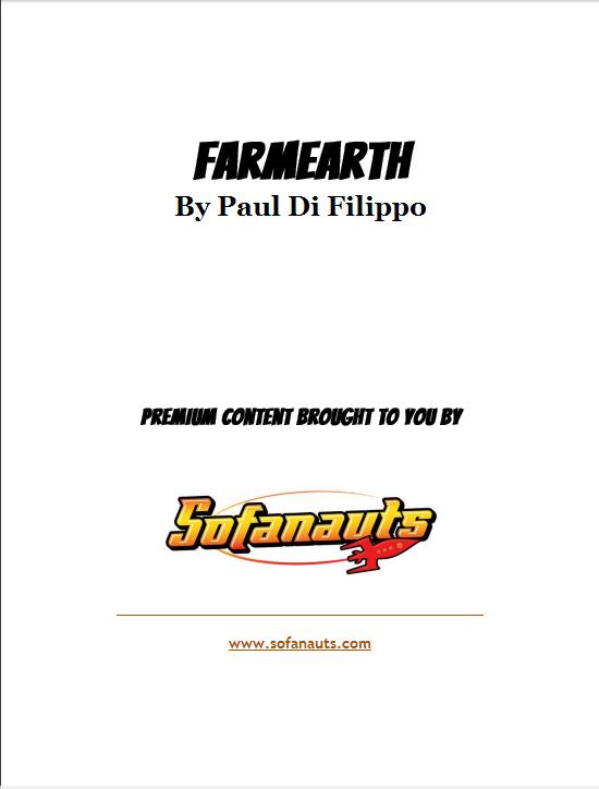 Title page for FarmEarth, by Paul Di Filippo